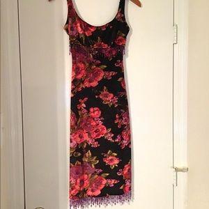 Betsey Johnson vintage 90's velvet floral dress